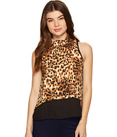 ROMEO & JULIET COUTURE - Sleeveless Leopard Tank Top