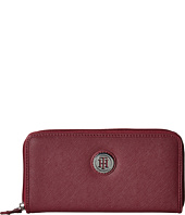 Tommy Hilfiger - Medallion Saffiano Zip-Around Wallet