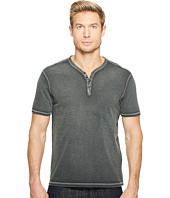 John Varvatos Star U.S.A. - Reverse Print Soft Collar Peace Henley w/ Peace Sign K740T2B