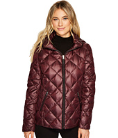 LAUREN Ralph Lauren - Short Diamond Quilt Packable with Hood