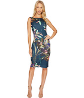 Ellen Tracy - Floral Printed Scuba Dress