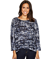 Nally & Millie - Blue Static Print Top