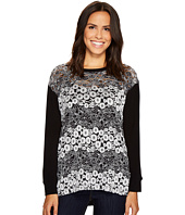 Nally & Millie - Black/White Lace Tunic