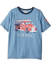 Hatley Kids - To The Rescue Firetruck Short Sleeve Tee (Toddler/Little Kids/Big Kids)