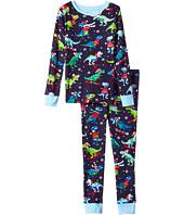 Hatley Kids - Winter Sports T-Rex Long Sleeve Pajama Set (Toddler/Little Kids/Big Kids)