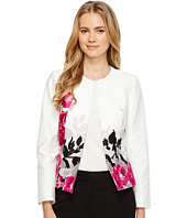 Tahari by ASL - Printed Poplin Open Jacket
