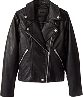 Blank NYC Kids - Vegan Leather Moto Jacket in Life Lessons (Big Kids)