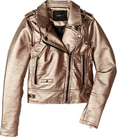 Blank NYC Kids - Metallic Moto Jacket in Silver Rose (Big Kids)