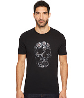 John Varvatos Star U.S.A. - Floral Skull Graphic Tee K3365T3B