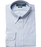 LAUREN Ralph Lauren - Classic Fit Non Iron Poplin Plaid Button Down Collar Dress Shirt