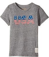 The Original Retro Brand Kids - Stars and Stripes Tri-Blend Short Sleeve USA Tee (Little Kids/Big Kids)