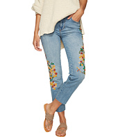 Free People - Embroidered Girlfriend Jeans