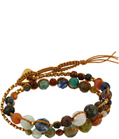Chan Luu - Single Wrap Bracelet w/ Double Tiered, Multi Stones