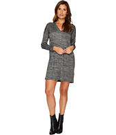 Lilla P - Long Sleeve Double V-Neck Dress