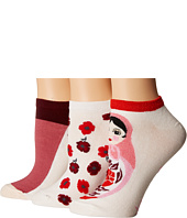 Kate Spade New York - 3-Pack Nesting Doll No Show Socks