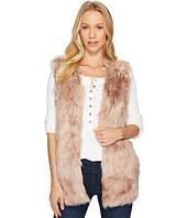 Dylan by True Grit - Melange Long Faux Fur Vest