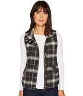 Dylan by True Grit - Melange Flannel & Frosty Tipped Classic Vest with Cozy Lining