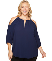 MICHAEL Michael Kors - Plus Size Chain Cold Shoulder Top
