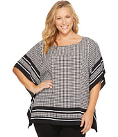MICHAEL Michael Kors - Plus Size Houndstooth Border Top
