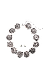 M&F Western - Silver Disc Choker/Earrings Set