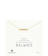 Dogeared - Balance Smooth Bar w/ Multicolored Seed Bead Bar Necklace