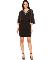 Sangria - Embellished Pop Over Capelet Sheath
