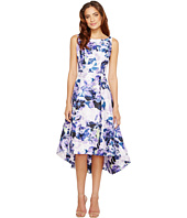 Sangria - Floral Print Hi Low Hem Fit and Flare with Pockets