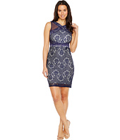 Sangria - Mesh and Lace Combo Sheath