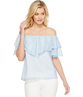HEATHER - Tia Trellis Lace Ruffle Off the Shoulder Top