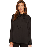B Collection by Bobeau - Alaia Floral Tie Neck Blouse