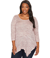 B Collection by Bobeau Curvy - Plus Size Langley Spacedye Knit Top