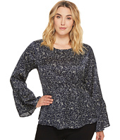 B Collection by Bobeau Curvy - Plus Size Lee Flare Sleeve Blouse