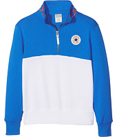 Converse Kids - 1/4 Zip Stand Collar Pullover (Big Kids)
