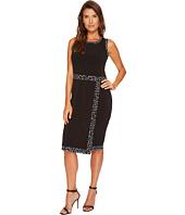 MICHAEL Michael Kors - Faux Wrap Border Tank Dress