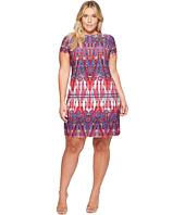 London Times - Plus Size Matte Jersey T-Shirt Shift Dress