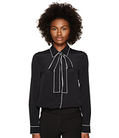 Boutique Moschino - Crepe De Chine Long Sleeve Blouse