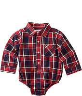 Mud Pie - Flannel Plaid Collared Crawler (Infant)