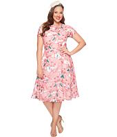 Unique Vintage - Plus Size Chiffon Dress