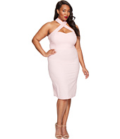 Unique Vintage - Plus Size Crisscross Halter Penelope Wiggle Dress
