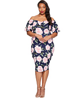 Unique Vintage - Plus Size Ruffled Dress