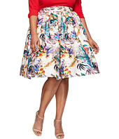 Unique Vintage - Plus Size Swing Skirt