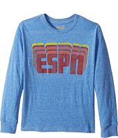 The Original Retro Brand Kids - ESPN Long Sleeve Tri-Blend Tee (Big Kids)