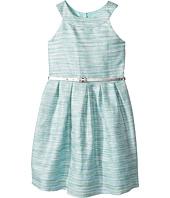 Us Angels - Sleeveless Ringer Dress with Box Pleat Skirt and Belt (Big Kids)