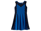 Sleeveless with Lace Fit and Flare Dress (Big Kids)