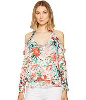 XOXO - Printed Off the Shoulder Ruffle Top
