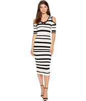 XOXO - Pointelle Stitch Stripe Midi Dress
