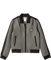 Karl Lagerfeld Kids - Jacquard Quilted Zip-Up Cardigan (Little Kids)