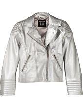 eve jnr - Vegan Leather Moto Jacket (Little Kids/Big Kids)