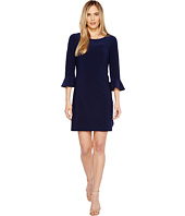 Laundry by Shelli Segal - Matte Jersey Flounce Sleeve Dress