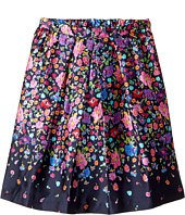 Oscar de la Renta Childrenswear - Chine Garden Mikado Pleat Skirt (Toddler/Little Kids/Big Kids)